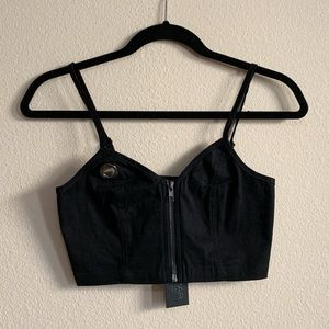 NWT LF zip-up crop top